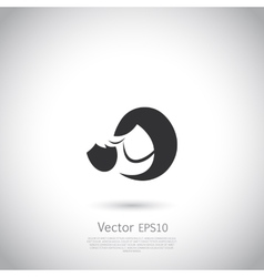 Mother and child icon or logo vector image