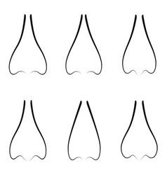 nose icon set vector image