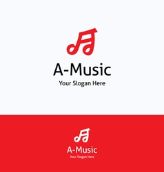 A-music note logo vector image