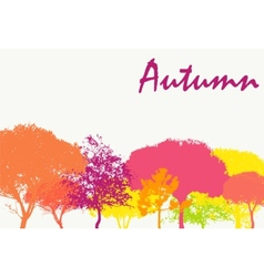 Abstract Autumn Natural Background vector image