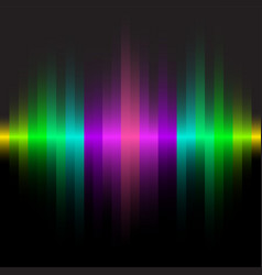 abstract color line dark background vector image