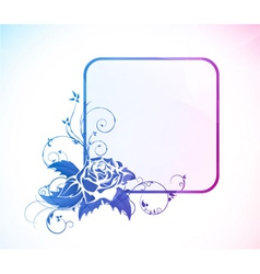Abstract colorful floral frame vector