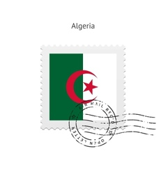 Algeria flag postage stamp vector