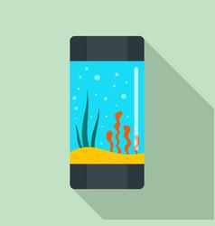 Aquarium tube icon flat style vector