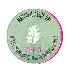 Arbor day icon for promotio vector