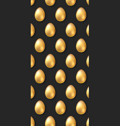 background with golden eggs pattern for easter vector image