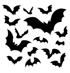 bats silhouettes vector image