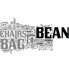 Bean bag chairs text word cloud concept vector