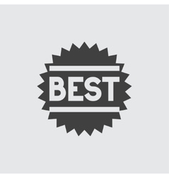 Best sale icon vector image