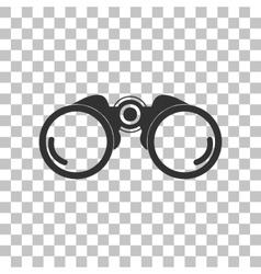 Binocular sign Dark gray icon on vector image