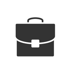 briefcase black icon vector image