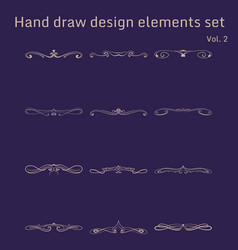 bunch of simple and elegant design elements vector image
