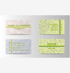 Business card ideas for designers and web design vector