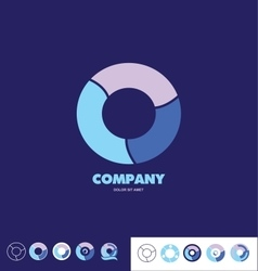 Business circle company logo vector