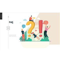 business series - faq web template vector image