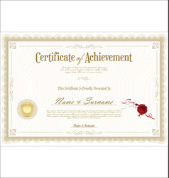 Certificate or diploma retro vintage template 05 vector