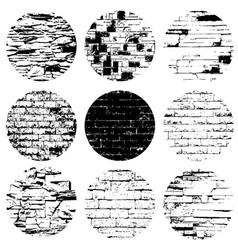 circle brickwall set vector image