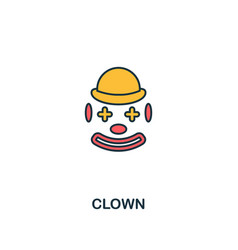 clown icon creative 2 colors design fromclown vector image