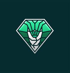 cobra snake e sport logo icon vector image