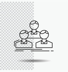 company employee group people team line icon on vector image