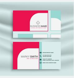 Creative business card design template vector