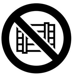 Do not obstruct forbidden sign modern round vector