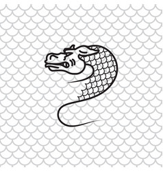 Dragon snake vector