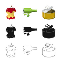 Dump and sort logo vector
