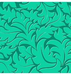 Elegant floral curl pattern vector image