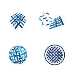 Fabric icon design template vector