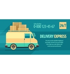 Flyer design for freight vector