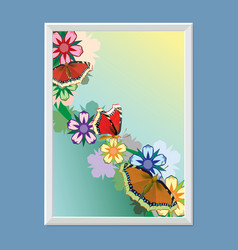 frame for the picture wooden baguette vector image