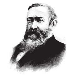 General benjamin harrison vintage vector