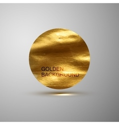 Golden paint stain banner vector