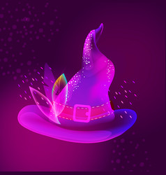 halloween bright hat for holiday design vector image