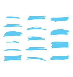 highlighter brush set vector image