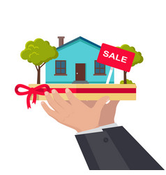 house sale concept in flat design vector image