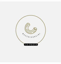 icon and logo for italian pasta or noodles vector image