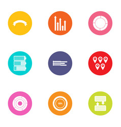 Improve the scheme icons set flat style vector