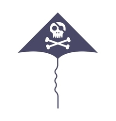 Jolly roger skull and cross bones pirate death vector