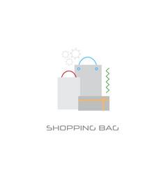 kraft paper cardboard bags gift box online vector image