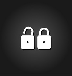 locks icon flat vector image