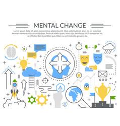 Mental change concept flat composition vector