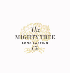 mighty tree long lasting company abstract vector image