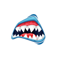 Monster mouth icon creepy zombie or alien vector