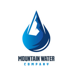 mountain mineral water logo design vector image