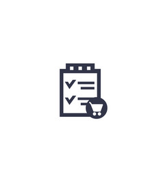 Online order icon on white vector