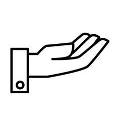 open hand palm vector image