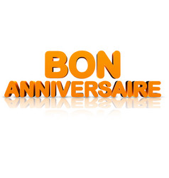 Orange happy birthday 3d banner vector