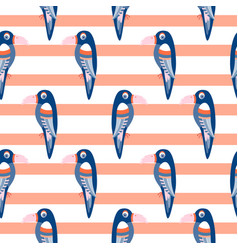 parrot pattern seamless bird vector image